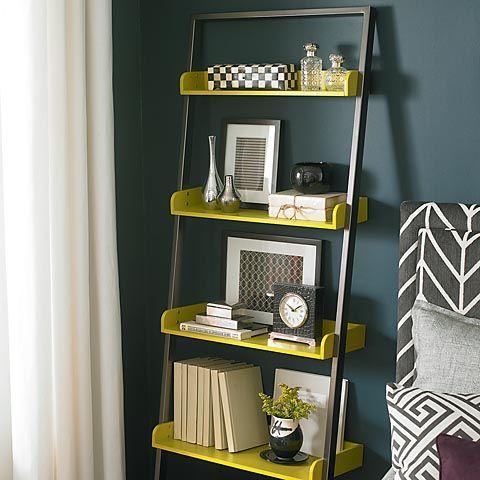 Bassett Furniture Bookcase: cute chartreuse accent shelves! | Home ...