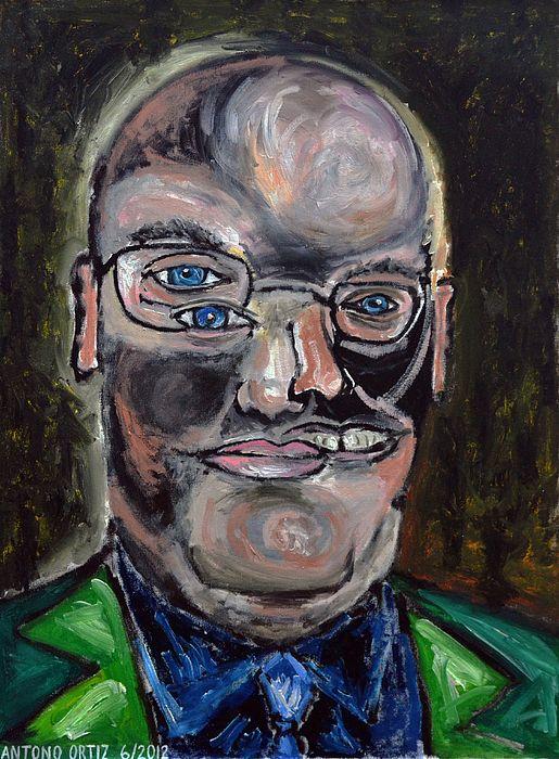 title - Steven A. Cohen, oil on canvas, AntonioOrtiz.com, nyc