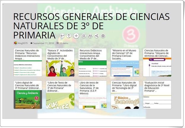 10 Recursos Generales De Ciencias Naturales De 3º De Primaria Ciencias Naturales Recursos Didacticos Nivel De Educacion