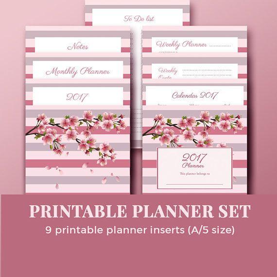 Yearly Planner 2017 Printable / Yearly planner 2017 /Planner