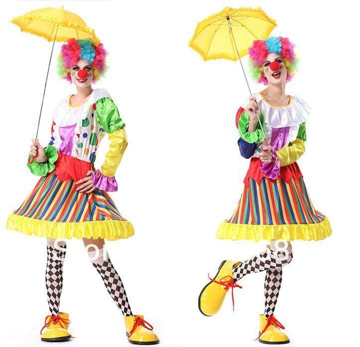 Хэллоуин женщины взрослых клоун платье клоун костюм для женщин рождественский костюм день рождения ну вечеринку магия рождественские костюмы купить на AliExpress