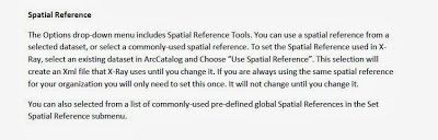 Use Spatial Reference for X Ray