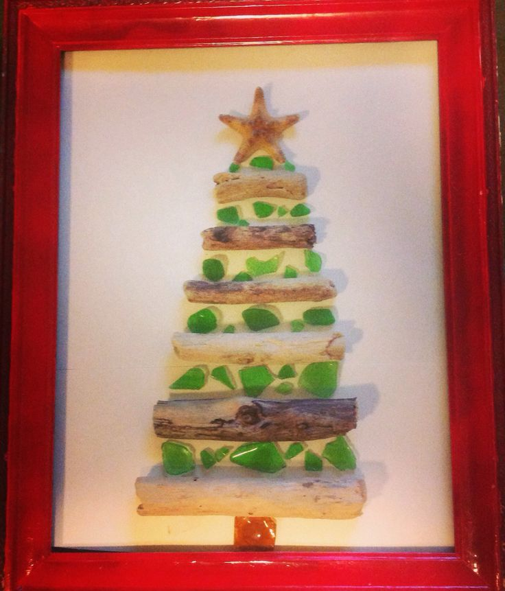 driftwood & sea glass Christmas tree....This is great!