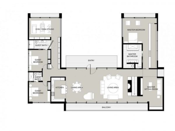 Modern Kitchen Layout Plan 47 best u shaped houses images on pinterest | architecture, u