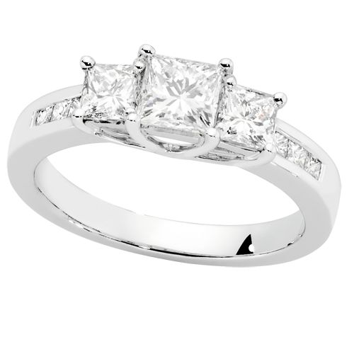 1 1/2 CARAT DIAMOND ENGAGEMENT RING, Michael Hill My ring but in white gold