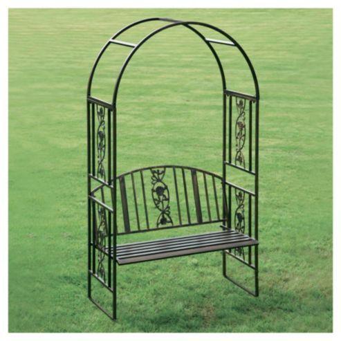 Greenhurst Steel Garden Arch With Bench Seat Garden