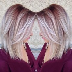 Straight Lob Hairstyle - Ombre, Balayage Hair Styles