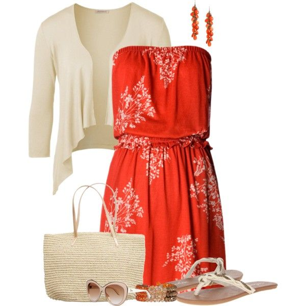 Summertime Strapless, created by maggie478 on Polyvore