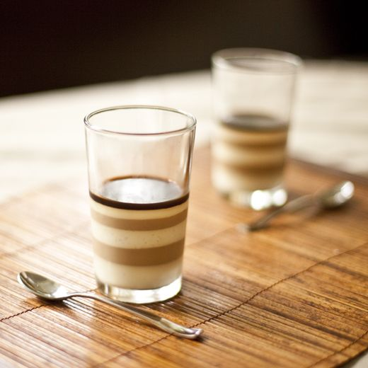 Vietnamese ice coffee panna cotta