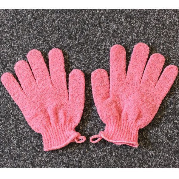 Exfoliating Gloves - Pink As you all know you have to exfoliate every now and then to get all the disgusting dead skin of our bodies. These are too notch at doing it. Plus they are not at all expensive and you can find them practically anywhere.