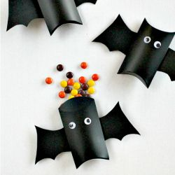 Pillow Box Bats are perfect for holding Halloween treats.