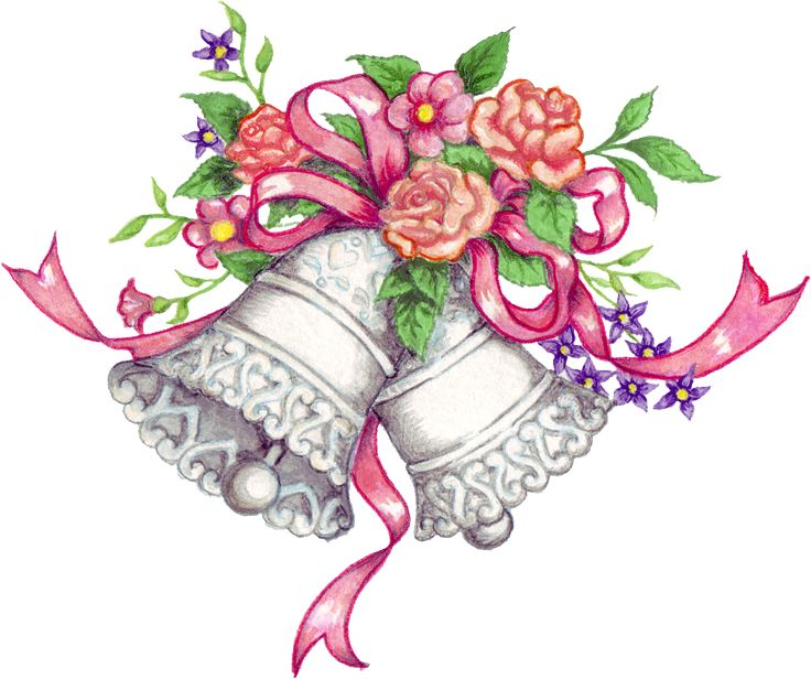 free downloadable wedding clipart   Free Wedding Bells Graphic - Transparent PNG files and Paint Shop Pro ...