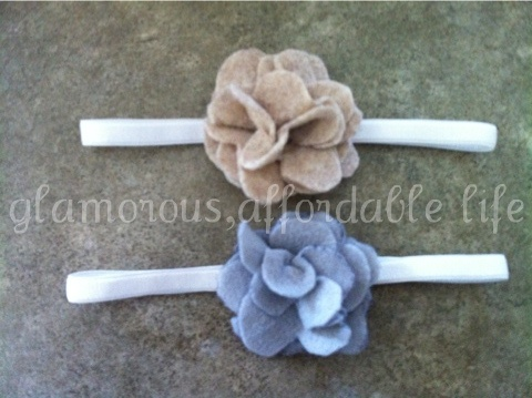 Going to try to make a few of these for baby girl. <3  Glamorous, Affordable Life: { Darling, Felt Headbands }