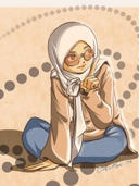 Sitting muslimah
