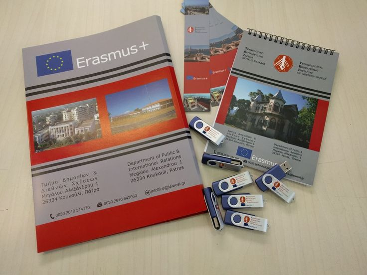Folder, Σημειωματάρια, Σελιδοδείκτες και #USB για το Τ.Ε.Ι. Πάτρας