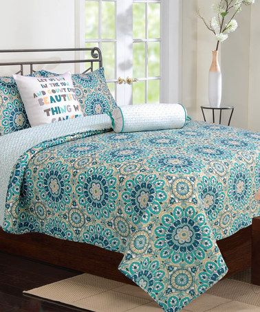 Love this Zoey Quilt Set by Ivy Hill Home on #zulily! #zulilyfinds