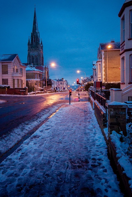 Evening Snowscape, Ryde Isle of Wight by JengaPix, via Flickr