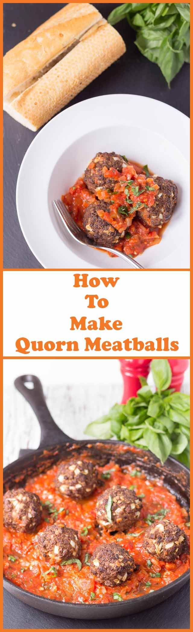 This Quorn meatballs recipe shows you how to make tasty Quorn meatballs in under one hour. Baked in the oven and with a delicious tomato sauce this is an excellent meat free weeknight family meal! via @neilhealthymeal