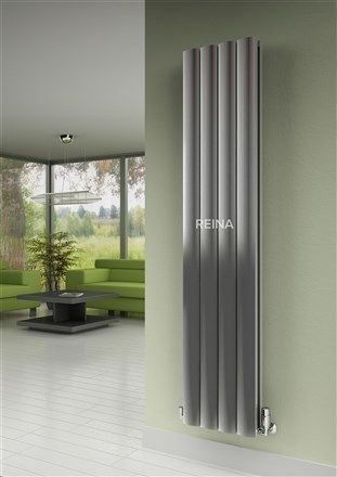 The Reina Greco Vertical Radiator. This range gives an extremeley higher heat output compared to standard steel radiators of the same size, quicker response time and are easier to install. Available in White, Anthracite & Polished Aluminium Prices from £253.50