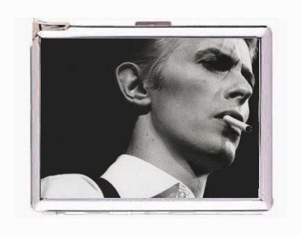 david bowie smoking image double-sided cigarette lighter card case holder money clip wallet by starzcase on Etsy