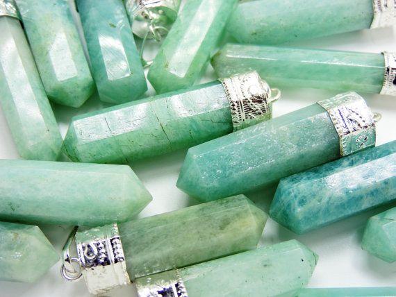 Amazoniet kristallen sieraden Hangers van IndiaCrystals op Etsy