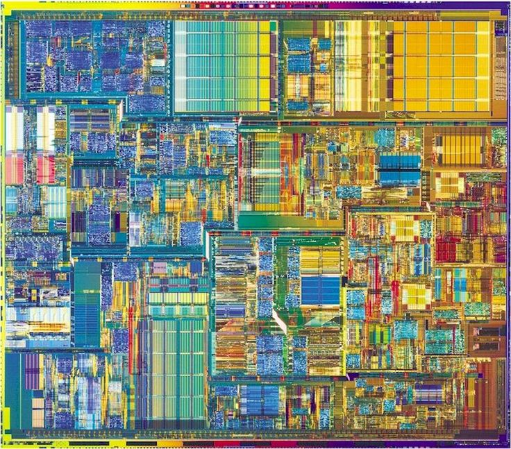 ... and this is what a Pentium 4 processor looks like under a microscope ...