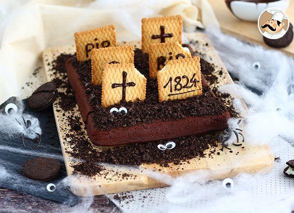 Cementerio brownie para halloween, Receta Petitchef