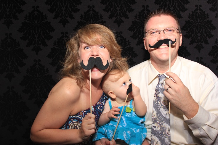 Family #Mustache Fun! #Akron Photo Booth Rental #Cleveland Photo Booth #PartyPixExperience