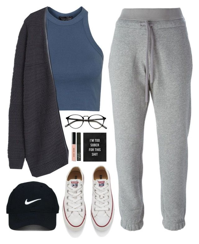 "ME ASF ON A LAZY DAY ""Too sober for this"" by sharinganjea ❤ liked on Polyvore featuring Topshop, Converse, adidas, MANGO, Nike Golf, NARS Cosmetics and Bobbi Brown Cosmetics"