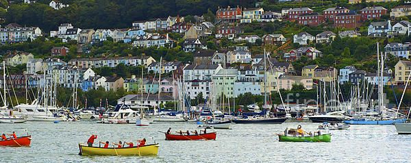 Love this lively scene at the Port Of Dartmouth Royal Regatta. http://toula-mavridou-messer.artistwebsites.com/featured/new-photographic-art-print-for-sale-the-port-of-dartmouth-royal-regatta-toula-mavridou-messer.html