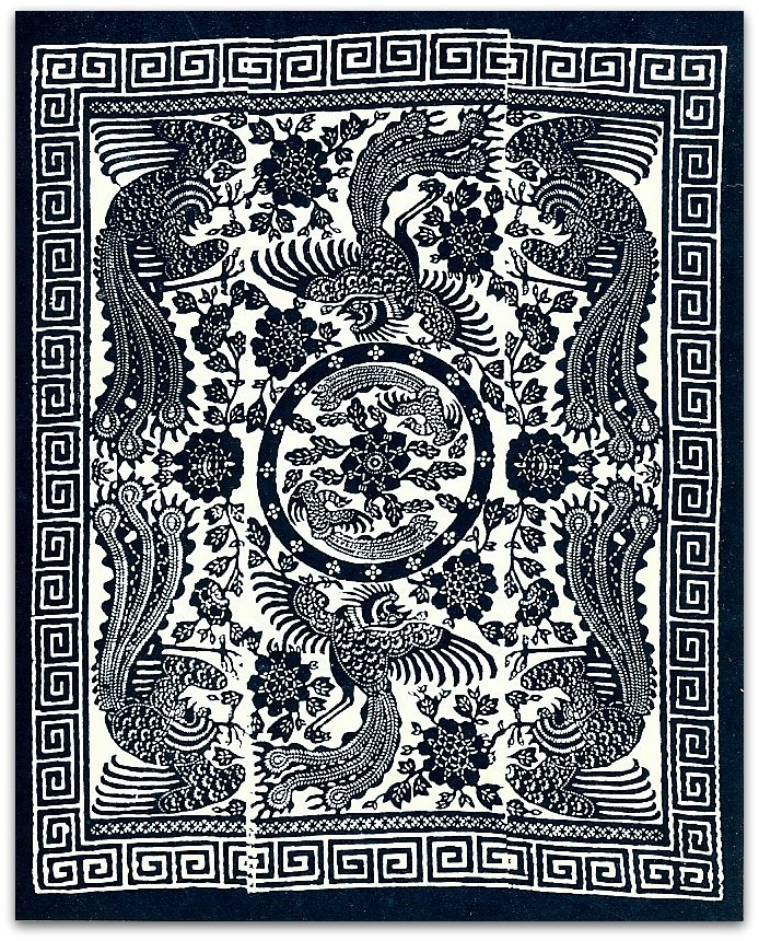 Китай.Верх одеяла.Размер оригинала 182х134см