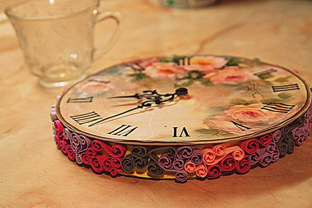 31 Best Quilled Clocks Images On Pinterest
