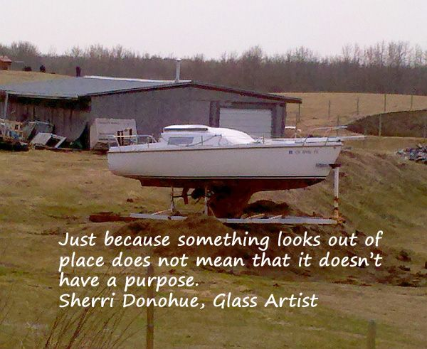 Not what one usually finds in a pasture, but in ours, it's there.  Photo & quote by Sherri Donohue