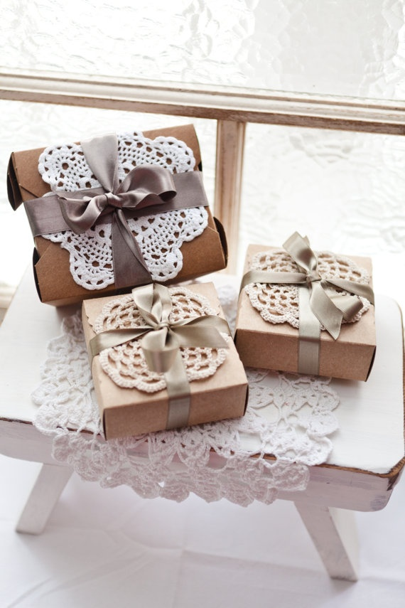 Handcrafted vintage wedding favour box with by mydarlingheart, $6.50