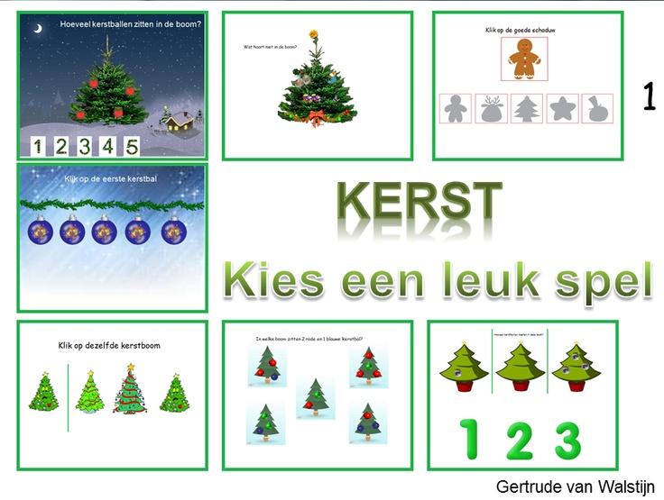 Digibordles groep 1: 7 verschillende kerstspelletjes    http://leermiddel.digischool.nl/po/leermiddel/199335c5a24cd31de309d49ef311f913?s=3.19