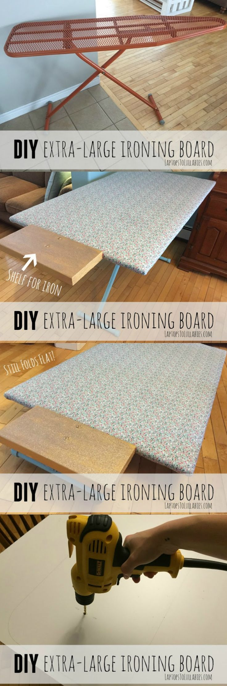 DIY oversized ironing board for quilting and sewing // Make your own!