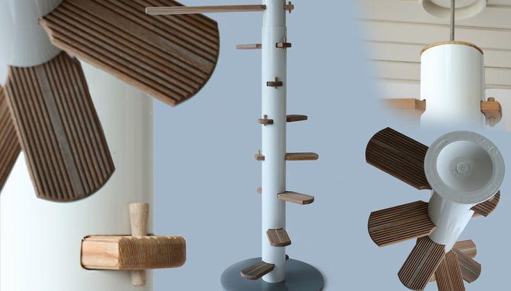 Indoor /Outdoor -Katzentreppe Mit Stecksystem.Winding