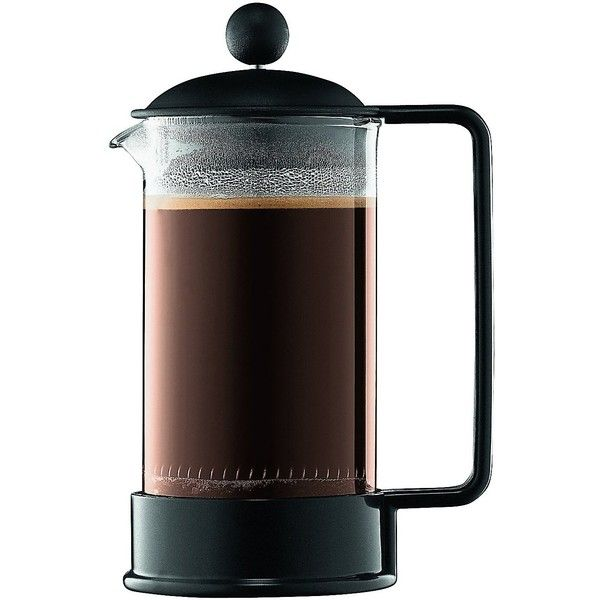 Bodum Brazil Shatterproof 3 Cup French Press Coffee Maker, Black (2580 RSD) ❤ liked on Polyvore featuring home, kitchen & dining, small appliances, fillers, food, food and drink, bodum coffee maker, bodum, black coffee maker and bpa free coffee maker