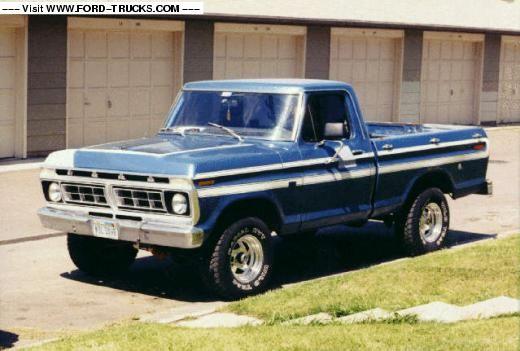 best 4x4 truck photos ever | 1976 Ford F100 4x4 - Ol' Blue Boy