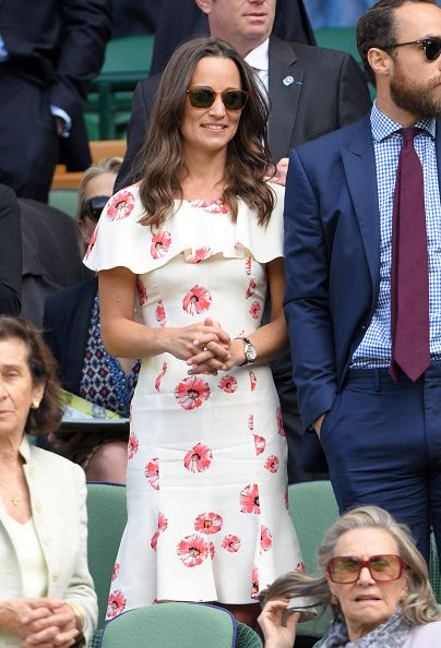 LONDON, ENGLAND - JUNE 27: Pippa Middleton attends day one of the Wimbledon Tennis Championships at Wimbledon on June 27, 2016 in London, England. (Photo by Karwai Tang/WireImage)