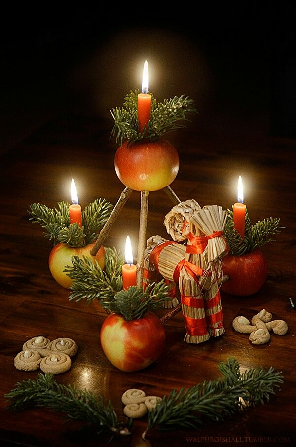 Here is another one of my reconstructions of a traditional and easy to make Yule decoration that was very popular in the Third Reich – the so called Weihnachtspyramide (Christmas pyramid)/ Paradeisl/ Lufleuchter. All Christmas pyramids looked basically similar and had pretty much the same meaning as the famous clay Julleuchter that was given as a Christmas gift to members of the SS. The shape of the pyramid likely meant to symbolize the World Mountain that is illuminated by lights or the…