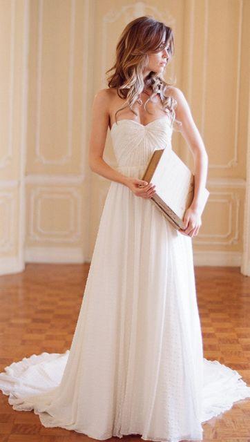Simple, but lovely.: Wedding Dressses, Idea, Organza Wedding Dresses, Sweetpea, Gowns, Dreams Dresses, The Dresses, Sweet Peas, Beaches Wedding
