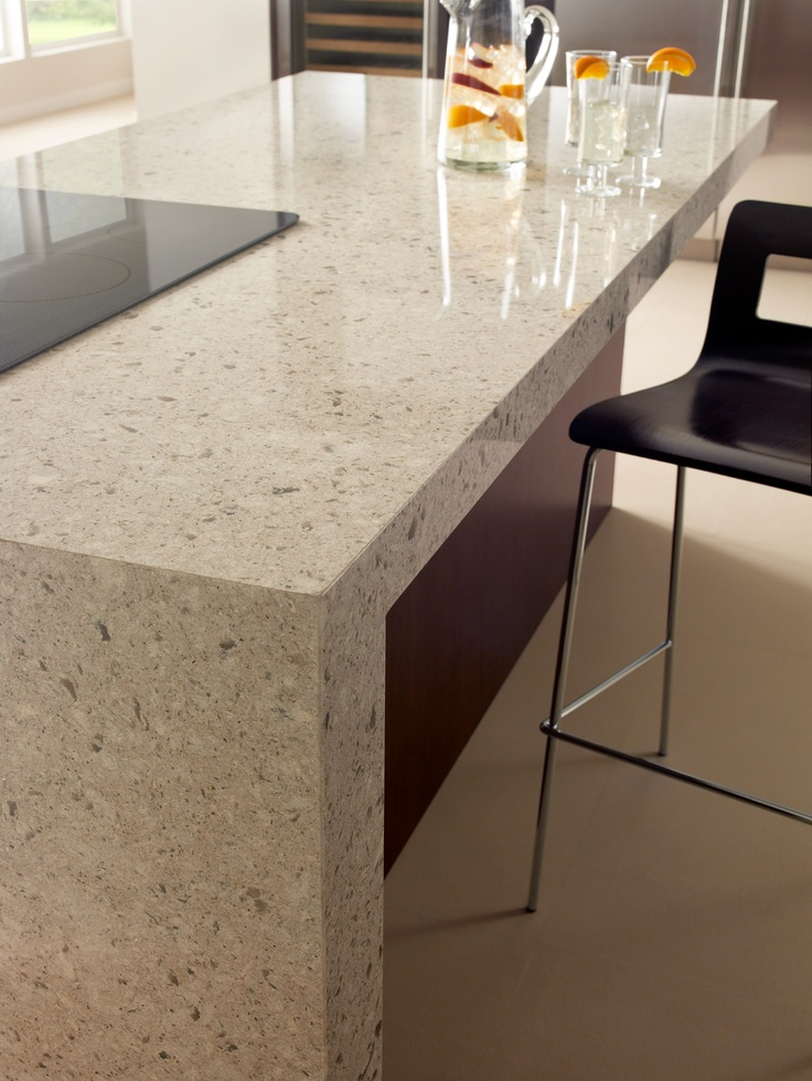Cambriau0027s Darlington   Consider A Waterfall Countertop On Your Island For  Continuous Sleek Lines In Your Contemporary Kitchen Design.