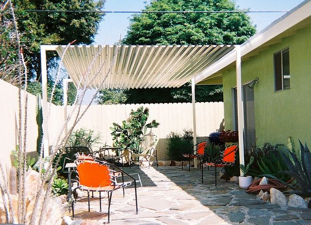 Steel shade structure by tk smith via flickr cottage for Steel shade structure design