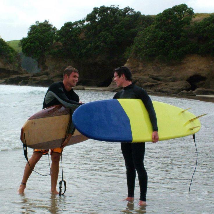 Surfing tawharanui  New Zealand