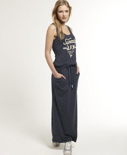 Superdry Worn Wash Maxi Dress - Women's Dresses