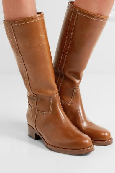 Etro - Leather Knee Boots - Tan - IT39.5