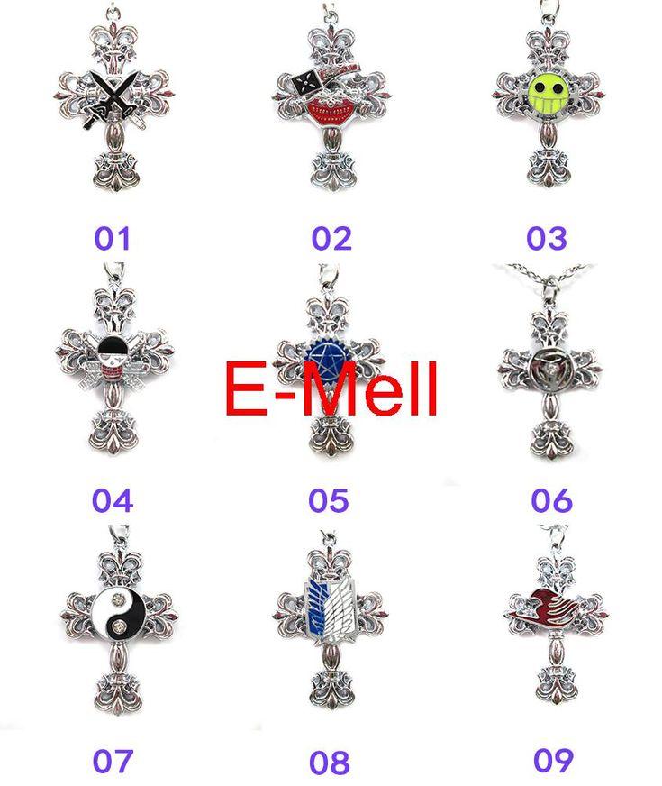 Косплей One piece Black Butler Наруто Fairy Tail Логотип Корона Крест Кулон Ожерелье Ожерелье