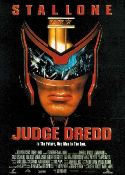 Judge Dredd.  AARGH, he took his helmet off! (Also, the movie...kinda sucked.)
