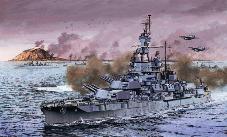 USS Pennsylvania en Iwo Jima.